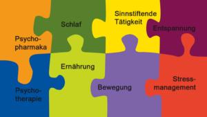 Image Puzzle der Behandlungsbausteine