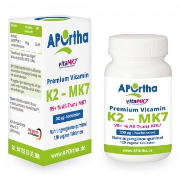 Vorschaubild: Premium VitaMK7® - Natto Vitamin K2 - MK7 200 µg - 120 Kapseln