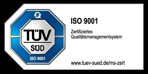 Logo ISO 9001 TÜV-zertifiziert