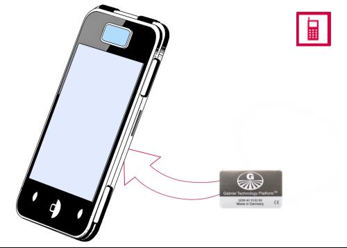 Vorschaubild: Gabriel-Chip (schwarz) für SmartPhone mit fest integriertem Akku