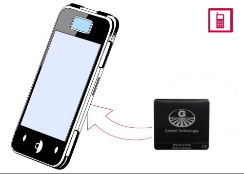 Vorschaubild: Gabriel-Chip (schwarz) für SmartPhone mit entnehmbarem Akku