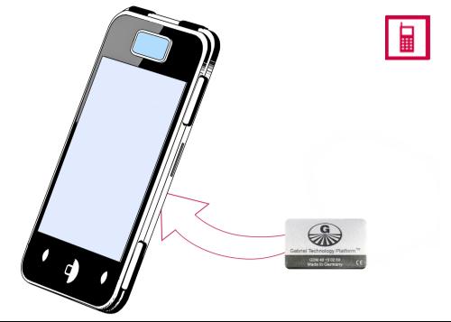Vorschaubild: Gabriel-Chip (silberfarben) für SmartPhone mit fest integriertem Akku