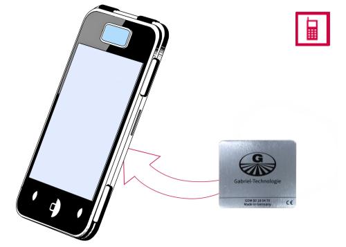 Vorschaubild: Gabriel-Chip (silber) für SmartPhone mit entnehmbarem Akku