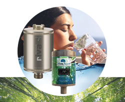 Vorschaubild: rivaALVA Trinkwasserfilter LIFE | Filter-Set mit VARIO Metall-Gehäuse und bioganischer Filterkartusche