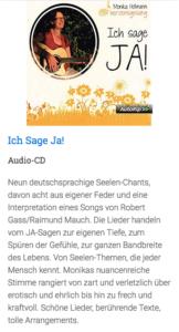 """Beschreibung der CD: """"Ich sage Ja"""" von Monika Hollmann"""