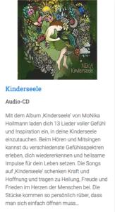 """Beschreibung der CD: """"Kinderseele"""" von Monika Hollmann"""