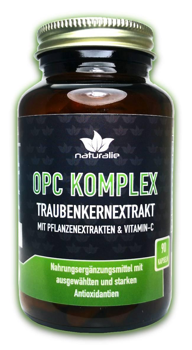 Vorschaubild: OPC Traubenkernextrakt hochdosiert + Vitamin C, Hesperidin, Quercetin und Rutin