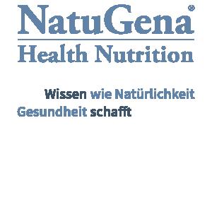 NatuGena-Logo mit Slogan