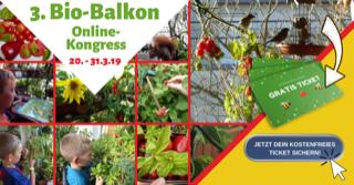 Foto zum 3. Online-Kongress von Bio-Balkon.de
