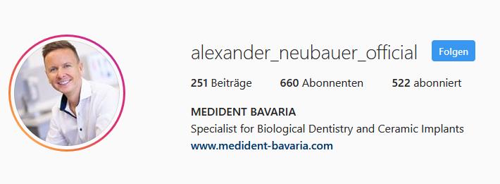 Dr. Alexander Neubauer bei Instagram