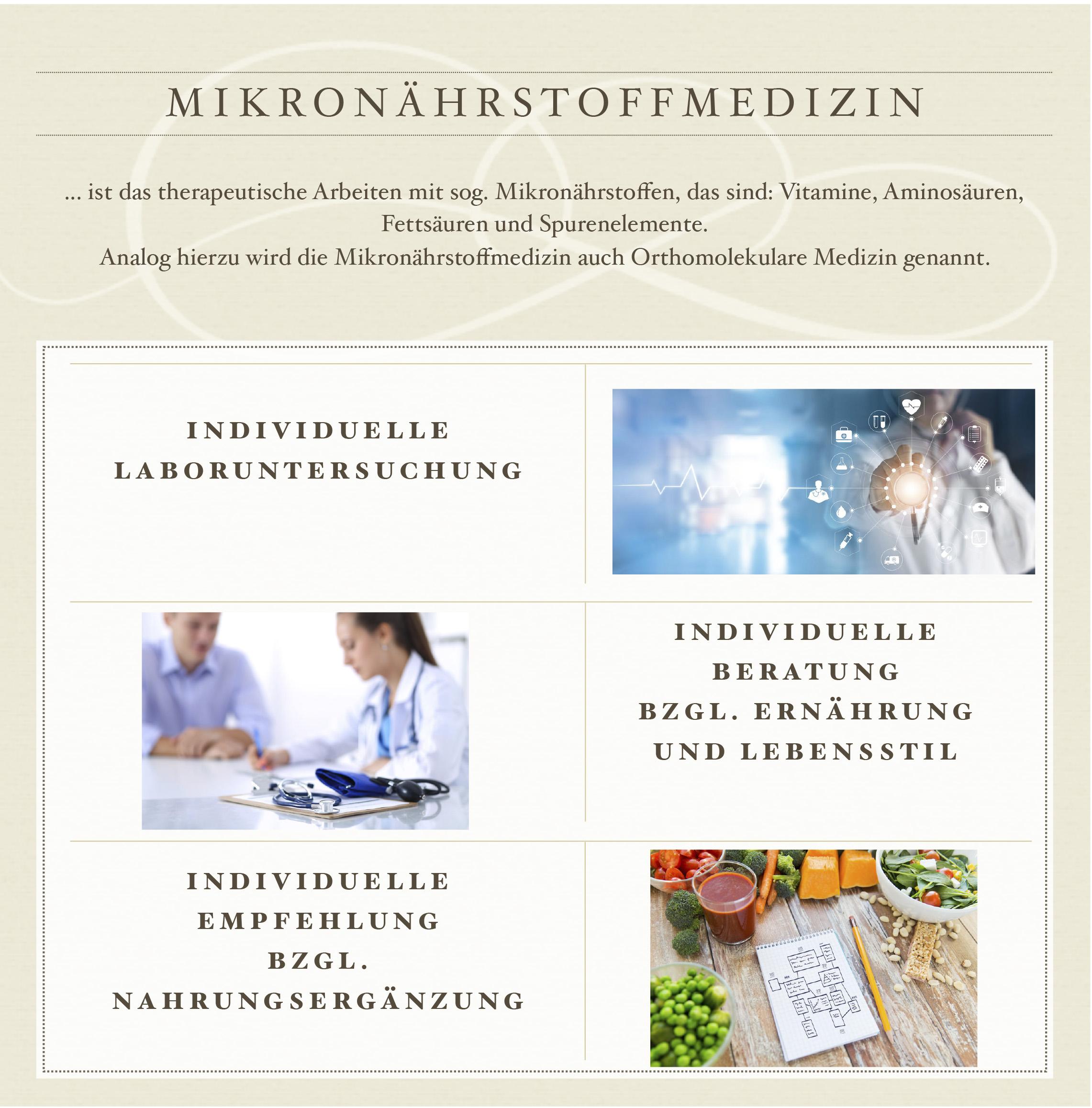 Flyerausschnitt: Mikronährstoffmedizin Dr. Melanie Schmidt