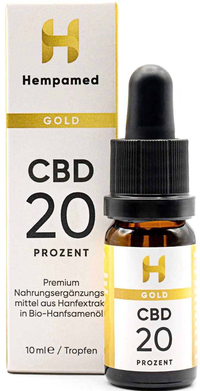 Vorschaubild: Hempamed Gold CBD-Öl 20% (2000mg) | 10 ml