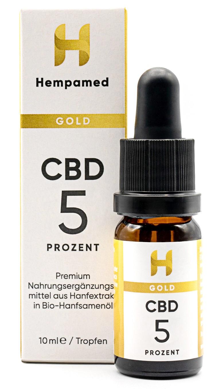 Vorschaubild: Hempamed Gold CBD-Öl 5 % | 10 ml