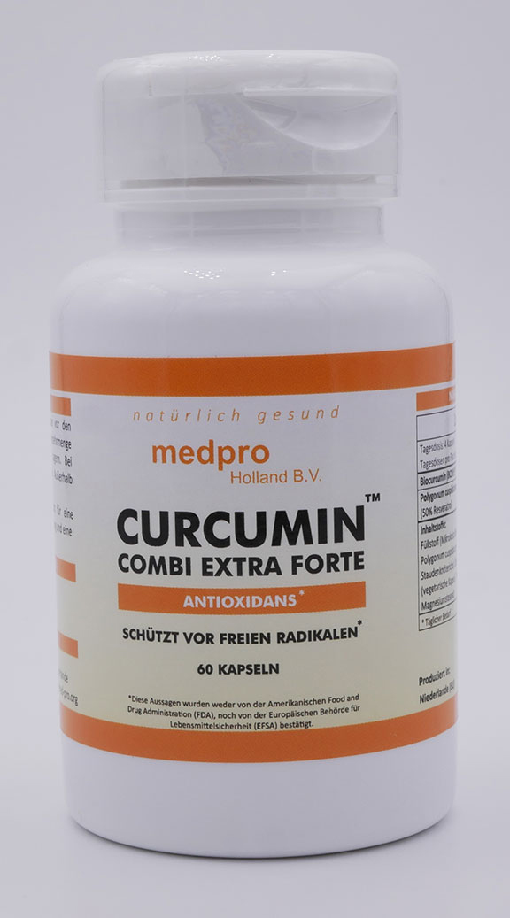 Vorschaubild: Curcumin combi extra forte (60 Kapseln, 350 mg pro Kapsel)
