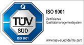 Emblem: TÜV-geprüft ISO 9001