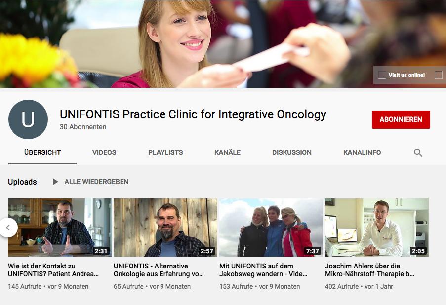 Screenshot vom Unifontis-youTube-Kanal