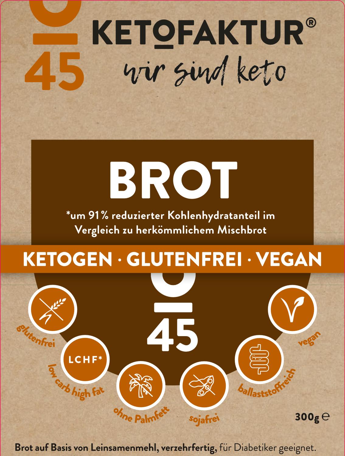 Etikettierung des Keto-Bauernbrot der KETOFAKTUR
