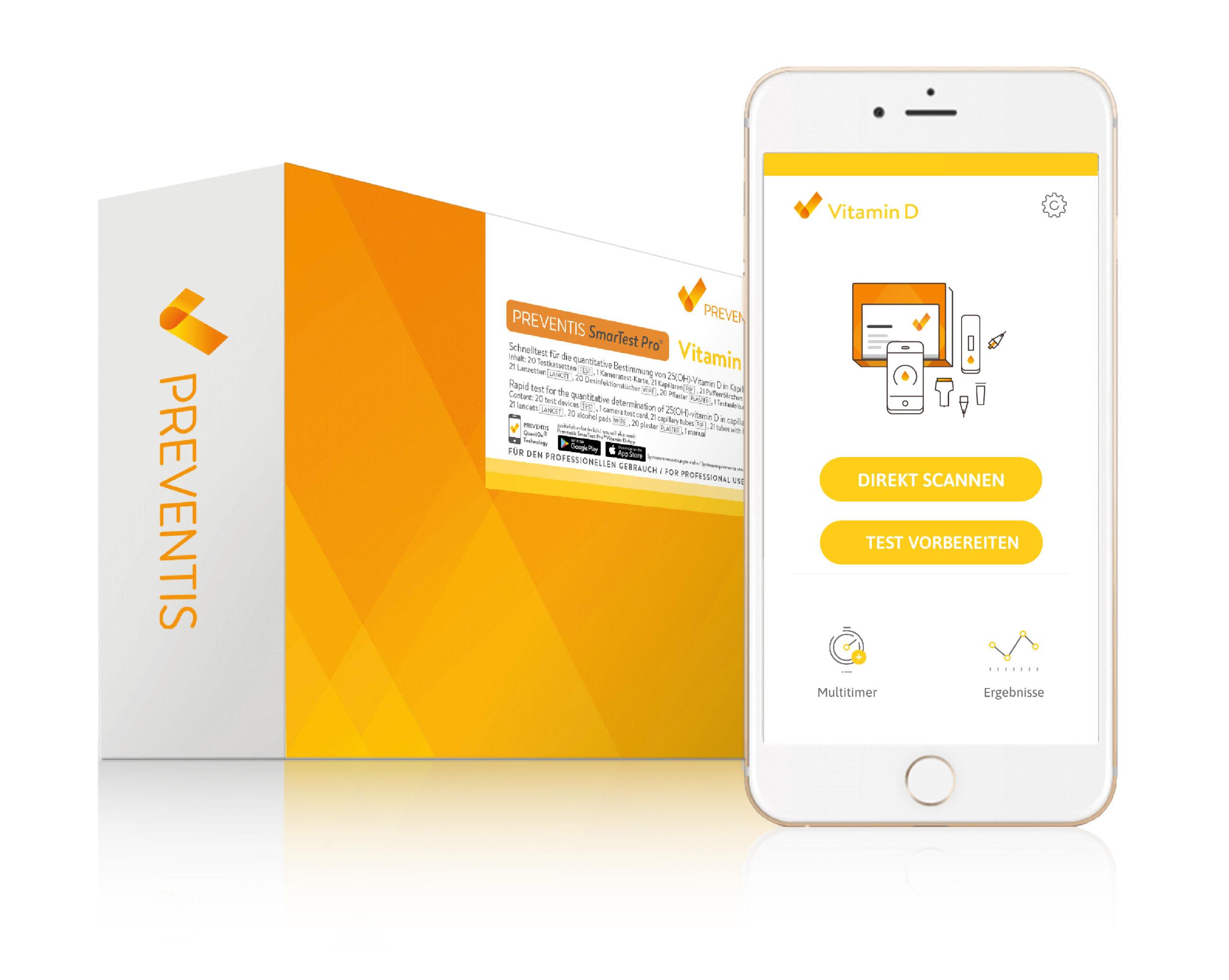 """AMM_Produktempfehlung: """"SmarTest Pro"""" von Preventis – Vitamin-D-Test per App"""