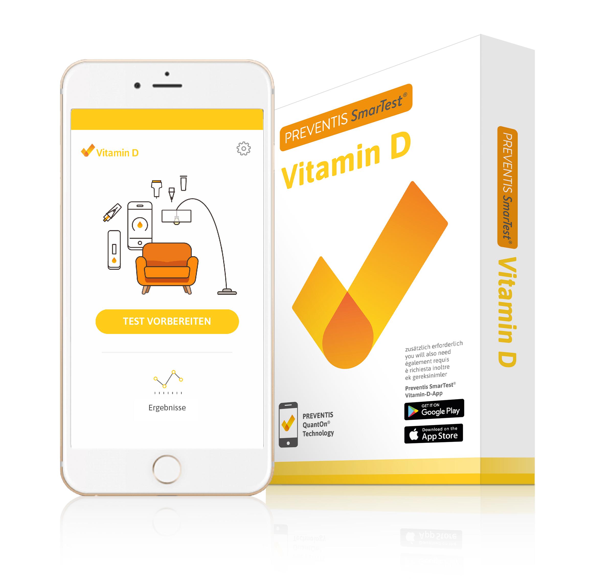 """AMM_Produktempfehlung: """"SmarTest"""" von Preventis Vitamin-D-Test für zu Hause per App"""