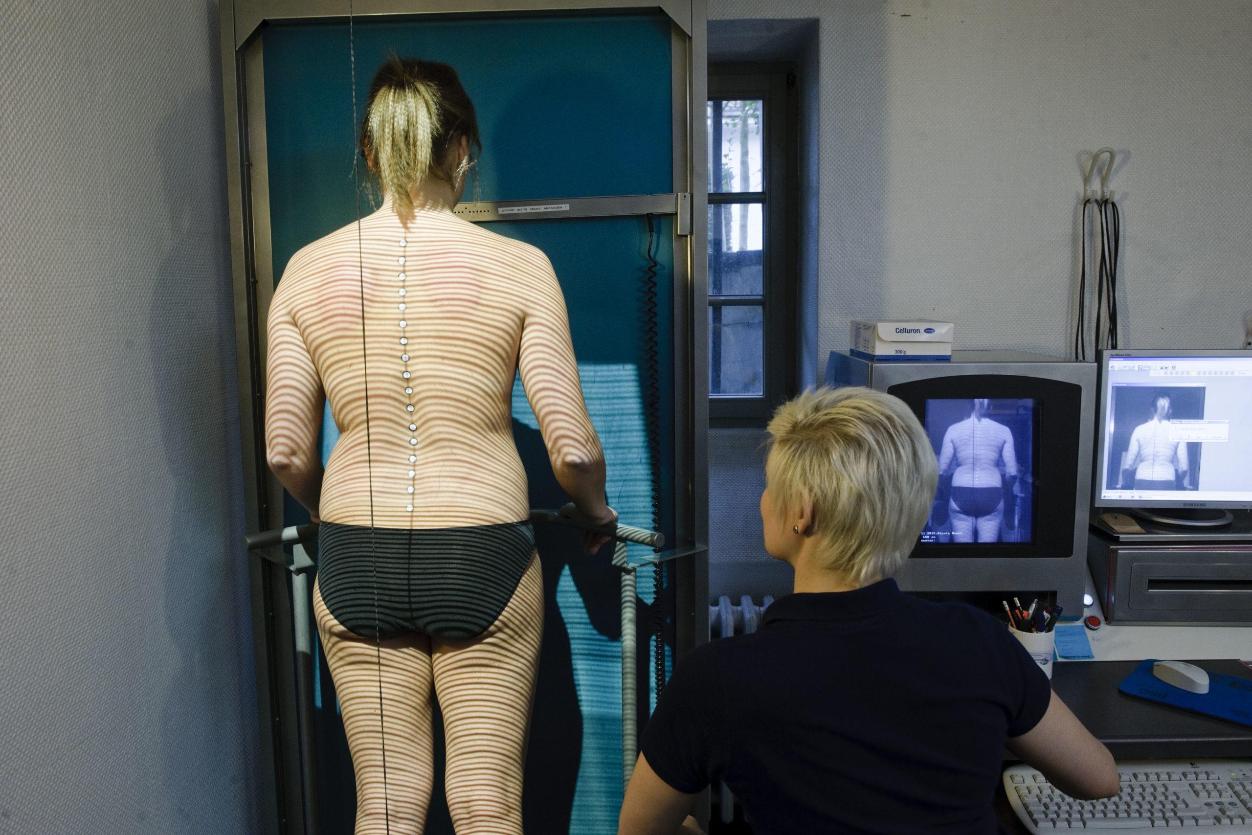 Foto einer Body-Vermessung bei Dr. med Ulrich Frohberger