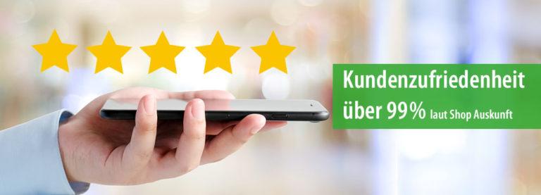 Foto: Banner Kundenzufriedenheit AMM-Marktplatzpartnerin Fixmedika.de