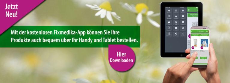 Foto: Banner App AMM-Marktplatzpartnerin Fixmedika.de