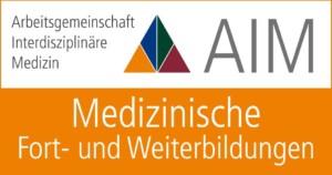 "Logo des AMM-Netzwerkpartners ""AIM – Arbeitsgemeinschaft Interdisziplinäre Medizin"""
