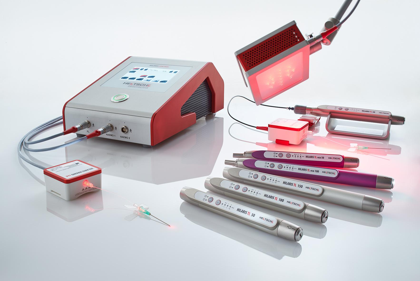Abbildung der AMM-Produktempfehlung zum Haemo-Laser von VitaCellScan: hier Produktübersicht von Heltschl