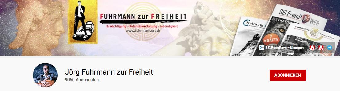 Banner vom YouTube-Kanal von Jörg Fuhrmann