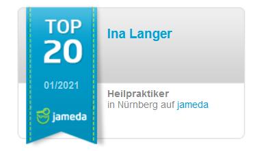 """jameda """"TOP20""""-Siegel der AMM-Netzwerkpartnerin Ina Langer – Heilpraktiker"""