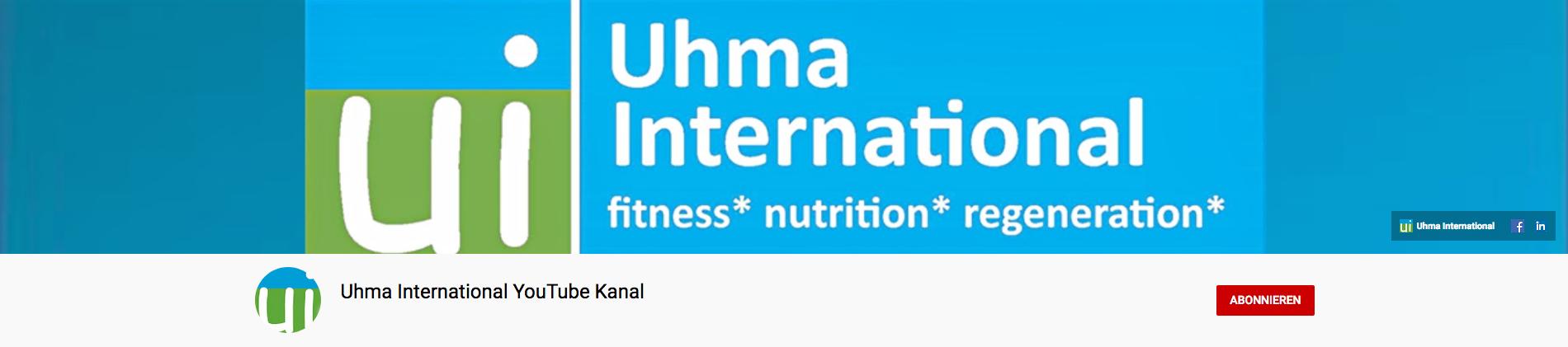 Banner des youTube-Kanals von uhma-international