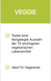 Produktempfehlung Nahrungsmittel-Bluttest