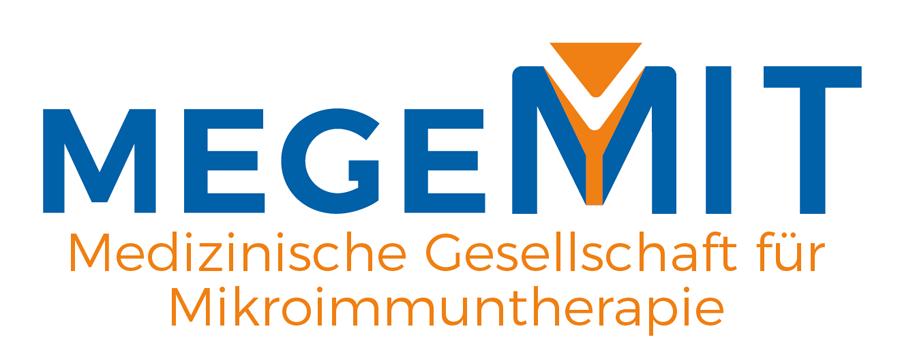 """Logo """"MEGEMIT"""" Medizinische Gesellschaft für Mikroimmuntherapie"""