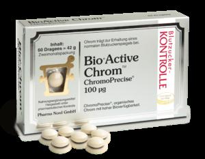 """Abbildung der AMM-Produktempfehlung """"BioActive Chrom"""" der Pharma Nord GmbH"""
