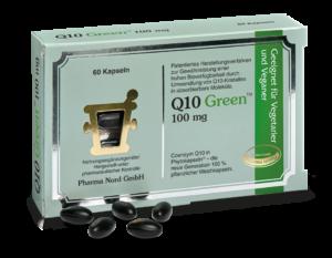 "Abbildung der AMM-Produktempfehlung ""Q10 Green 100mg"" der Pharma Nord GmbH"