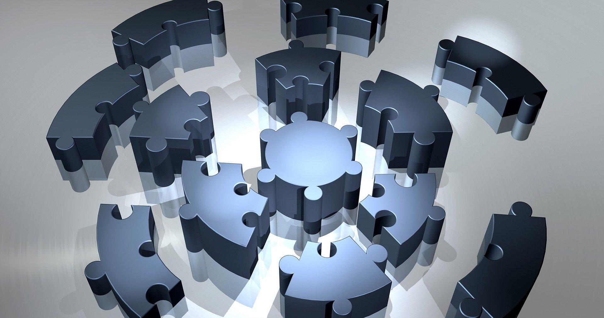 Ein kreisförmiges Puzzle