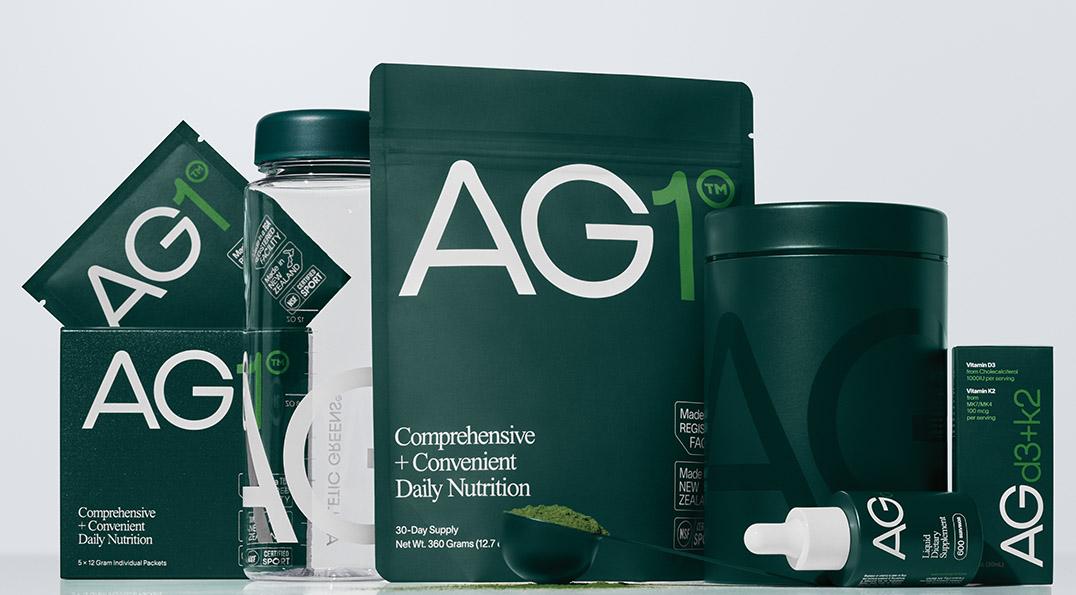 Produktrange AG1 des AMM-Netzwerkpartner Athletic Greens