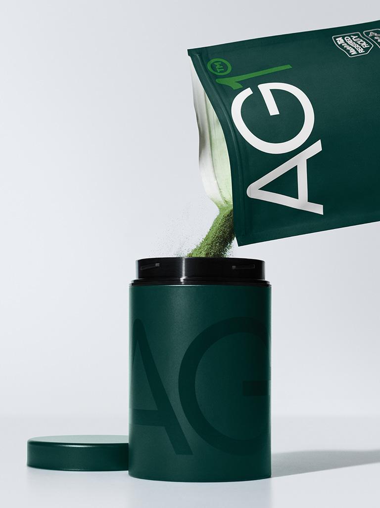 """Produktfoto zu """"AG1"""" des AMM-Netzwerkpartner Athletic Greens"""